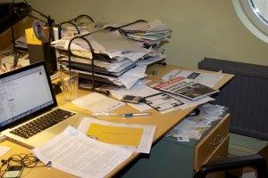 Kaos på skrivbordet