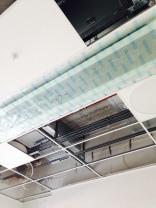 stort utrymme mellan tak och innertak. För flexibilitetens skull!